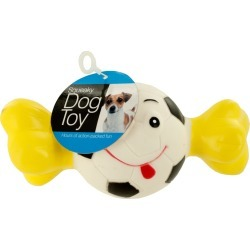 Squeaky Sports Ball with Bone Dog Toy found on Bargain Bro Philippines from koleimports.com for $1.10