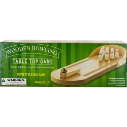 Table Top Wooden Bowling Game