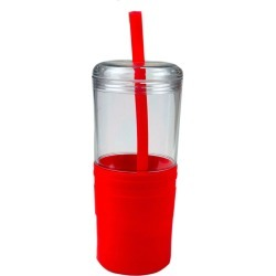 21 oz Keep Cool Red Grip Tumbler with Straw found on Bargain Bro India from koleimports.com for $1.95