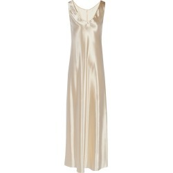 Satin Gala Dress Gold