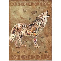 Magnet: Native American Wolf