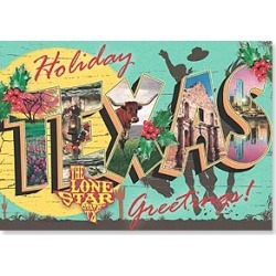Christmas Card: Holiday Texas Greetings! The Lone Star State