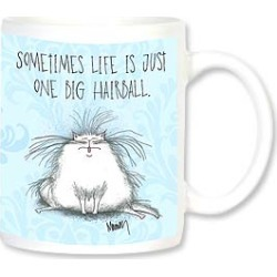 Ceramic Mug: Sometimes life is just one big hairball. found on Bargain Bro India from leanintree.com for $8.95