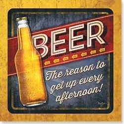 Napkins: BEER The reason to get up every afternoon! found on Bargain Bro from leanintree.com for USD $1.86