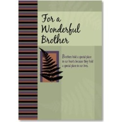 Birthday Card - Brother: God gave me a friend for life w/ Philemon 7