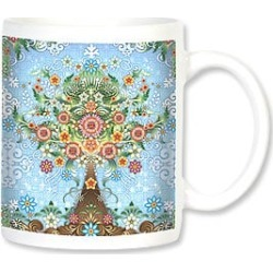 Ceramic Mug: Colorful Flower Tree found on Bargain Bro India from leanintree.com for $8.95