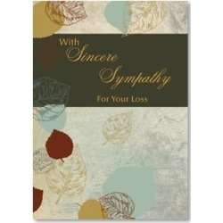 Sympathy Card: With Sincere Sympathy For Your Loss