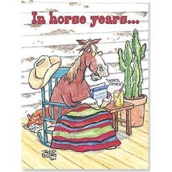 Birthday Card: n horse years. .you're GLUE! Happy Birthday found on Bargain Bro India from leanintree.com for $1.95