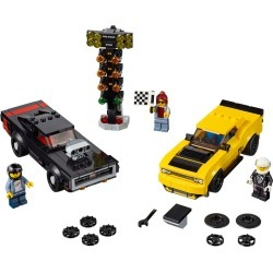 2018 Dodge Challenger SRT Demon and 1970 Dodge Charger R/T found on Bargain Bro Philippines from LEGO Brand Retail, Inc. CA for $29.83
