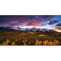 Dramatic Sunset Over The Dallas Divide At Colorado's San Juan Mountains Wallpaper Mural by Limitless Walls | Standard Canvas Fab