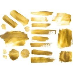 Collection Of Golden Paint Strokes To Make A Background For Your Wallpaper Mural by Limitless Walls   Standard Canvas Fabric   S