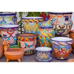Mexican Pots And Decorations Old San Diego California Wallpaper Mural by Limitless Walls | Standard Canvas Fabric | Small 5'5�