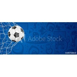 """Soccer Background With Ball In Goal Wallpaper Mural by Limitless Walls 
