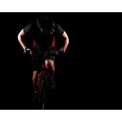 """Cyclist Riding Bike Wallpaper Mural by Limitless Walls 