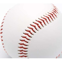 Isolated Baseball On A White Background And Red Stitching Baseball Wallpaper Mural by Limitless Walls | Standard Canvas Fabric |