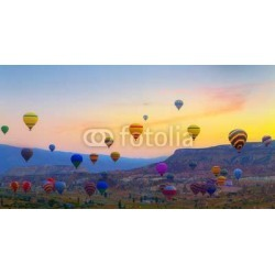 Balloons Sunset Wallpaper Mural by Limitless title=