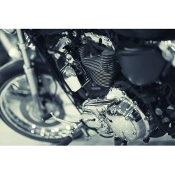 Fragment Of A Motorcycle Wallpaper Mural by Limitless Walls | Small 5�5� W x 4�3� H | Standard Canvas Fabric found on Bargain Bro Philippines from limitless walls for $161.15
