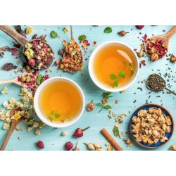 """Wallpaper Mural Two Cups Of Healthy Herbal Tea With Mint by Limitless Walls 