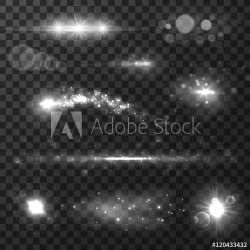 """Light Effects, Lens Flare, Glare And Stars Wallpaper Mural by Limitless Walls 