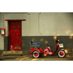 """Red Bike Wallpaper Mural by Limitless Walls 