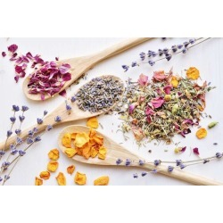 """Herbal Tea Ingredients Wallpaper Mural by Limitless Walls 