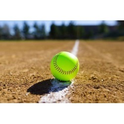 Softball In A Softball Field In California Mountains Wallpaper Mural by Limitless Walls | Standard Canvas Fabric | Small 5'5�