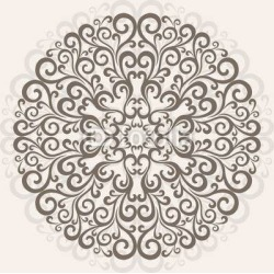 Background Ornamental Round Lace Wallpaper Mural