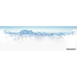 Panorama Of Winter Mountains In Caucasus Region,elbrus Mountain, Russia Wallpaper Mural by Limitless Walls | Standard Canvas Fab