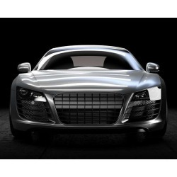"Luxury Sport Car Dark Indoor 3D Illustration Wallpaper Mural by Limitless Walls | Standard Canvas Fabric | Small 5'5"" W x 4�"