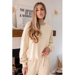 Boat House Cream Cropped Pullover Sweatshirt | Lulus