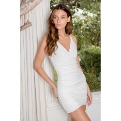 Current Obsession White Ruched Bodycon Mini Dress | Lulus found on MODAPINS from Lulus for USD $58.00