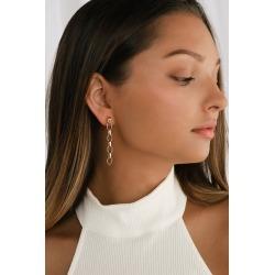 Saint Chain Gold Chain Link Drop Earrings | Lulus