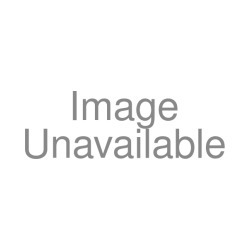 "Framed Print-Black and white illustration of a puppy sitting up in a dog bed-22""x18"" Wooden frame with mat made in the USA"