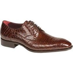 Men's Mezlan Sport Brown Authentic Alligator Italian Toe Lace Up Shoes Bernard Authentic Mezlan Brand