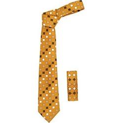 Square Pattern Burnt Orange Trendy Necktie