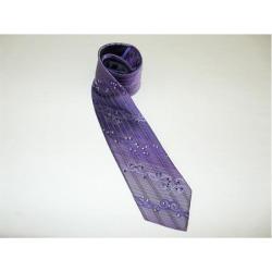 Mens Purple 1 Silk Crystal Formal
