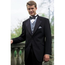 Tuxedo Package Super 140'S Wool 2 Button Tuxedo Suit + Your choice of Any Color Vest, Shirt, Tie