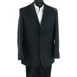 3 Button Black Pinstripe premier quality 1 Wool