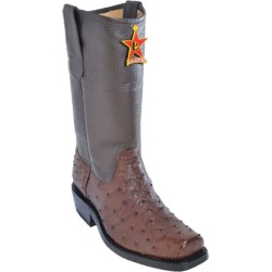 Los Altos Brown Genuine Ostrich Western Cowboy Biker Motorcycle Boot found on Bargain Bro Philippines from mensusa for $359.00