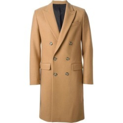 Mens 44 Inch Cashmere Double Breasted Long Mens Topcoat Peacoat Overcoat Wide Peak Lapel 6 buttons Camel ~ Khaki