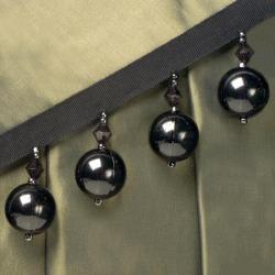 LARGE CRYSTAL BALL FRINGE - SMOKED BLACK W/BLACK TAPE
