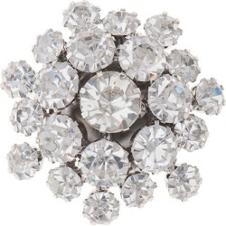 RHINESTONE BIJOU BUTTON - CRYSTAL/SILVER - 25mm found on Bargain Bro Philippines from M&J Trimming Affiliate Program for $5.98