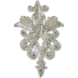 BEADED APPLIQUE - SILVER found on Bargain Bro Philippines from M&J Trimming Affiliate Program for $15.98