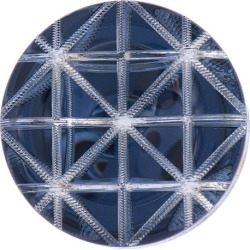 Geometric Button 38mm BLUE title=