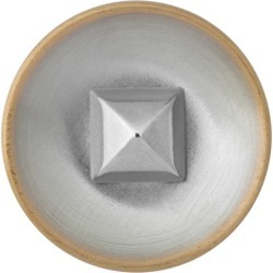 PYRAMID CENTER BUTTON-20mm-BRASS SILVER found on Bargain Bro Philippines from M&J Trimming Affiliate Program for $2.98