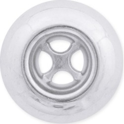4-HOLE DONUT BUTTON-31mm-SHINY SILVER found on Bargain Bro Philippines from M&J Trimming Affiliate Program for $5.98