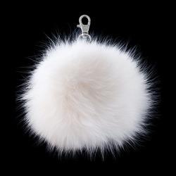 "Key Chain Fox Fur Pompom-6""-WHITE found on Bargain Bro India from M&J Trimming Affiliate Program for $29.98"