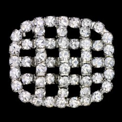 RHINESTONE BUTTON - CRYSTAL/SILVER found on Bargain Bro Philippines from M&J Trimming Affiliate Program for $24.98
