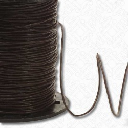 1MM ROUND LEATHER CORD - DARK BROWN found on Bargain Bro India from M&J Trimming Affiliate Program for $1.98