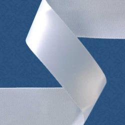 """1.5"""" SINGLE-FACE SATIN RIBBON - WHITE"""
